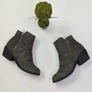Not Rated Alda overlap ruched laser cut booties